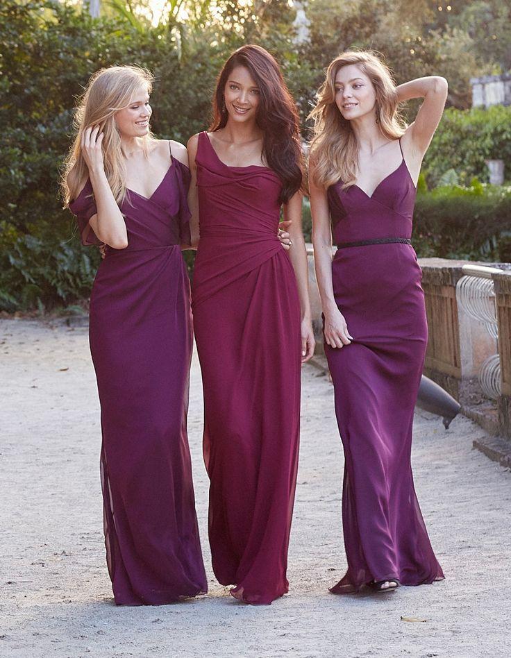 purple Bridesmaid Dresses Canada