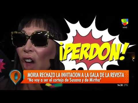 Furiosa, Moria rechazó ser la segunda de Mirtha Legrand y Susana Giménez...