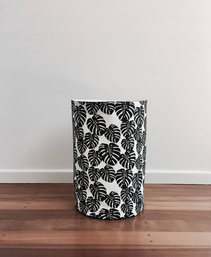 New-Monstera leaf print basket from my Etsy shop https://www.etsy.com/au/listing/537334660/new-monstera-print-fabric-storage-basket