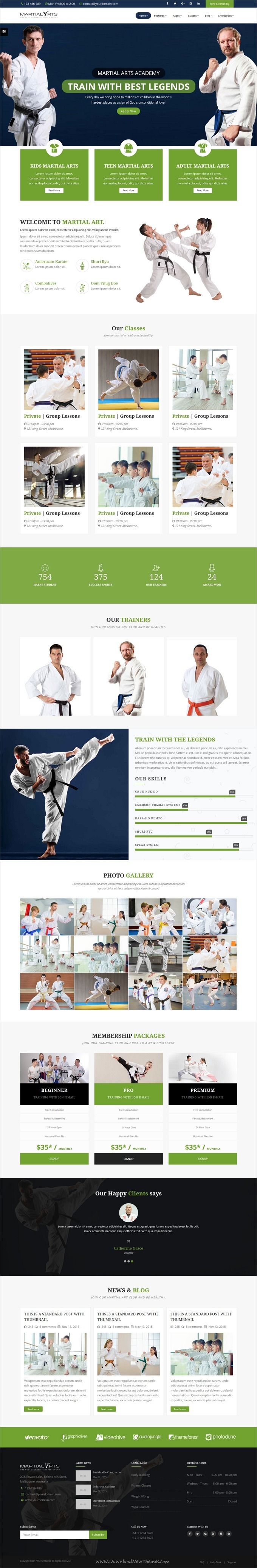 MartialArts is clean and modern design responsive #bootstrap template for #karate academy and #martialarts training center website with multiple homepage layouts download now..