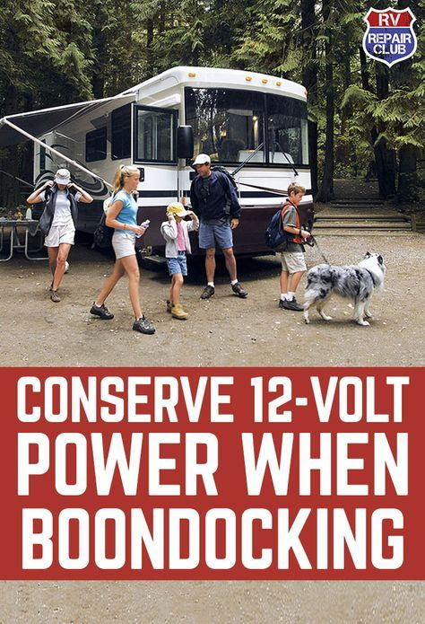 """Whether you call it boondocking, dry camping, or """"getting off the grid"""", camping without an electrical connection requires some planning and preparation if you plan on staying out even a short period of time. Without a 120-volt electrical connection, you'll be relying on your house batteries and will not be able to recharge them normally with an on-board converter."""