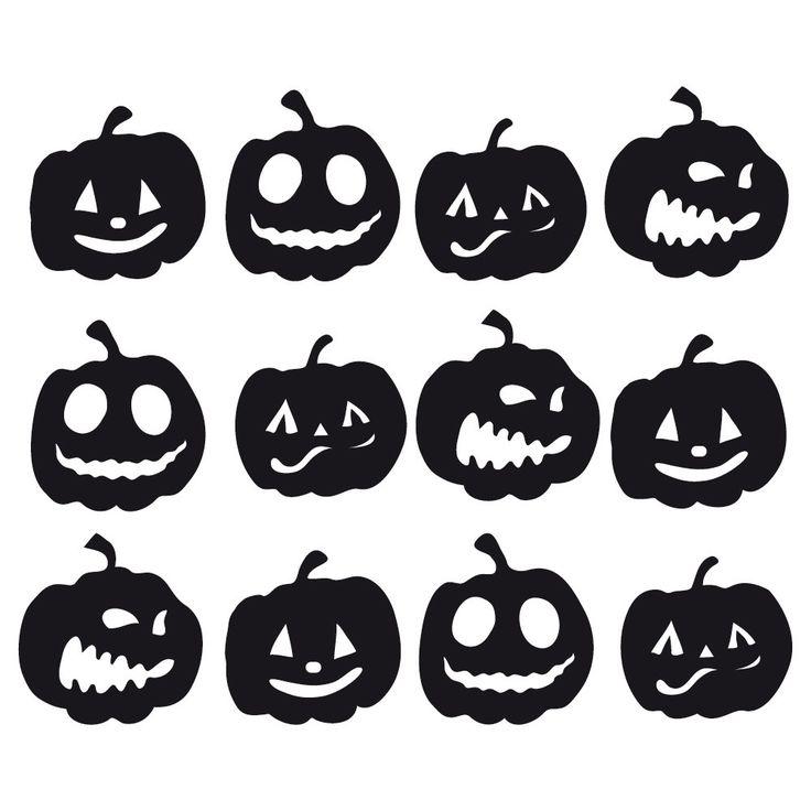 verschiedene Kürbisse mit Gesichtern zu Halloween, Schneidedatei umsonst von HappyFabric