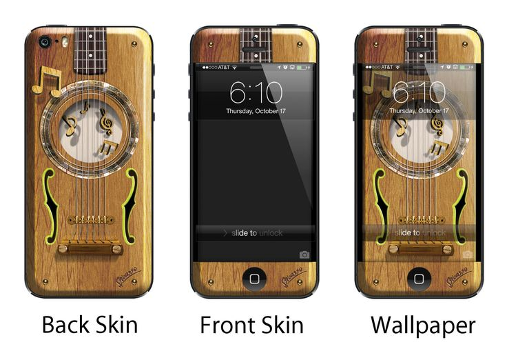 Sticasso solid as oak skin/Vinyl for iPhone 4/4S & iPhone 5