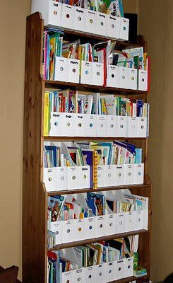This would be great for organizing all the kids books ....then I could find the topic I would like for us to read on....but that means LOTS of magazine boxes!!!!!!