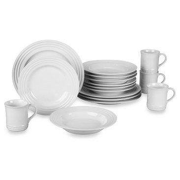 Check out this item at One Kings Lane! 16-Pc Dinnerware Set, White