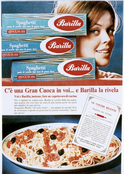 """1966, Barilla aims to """"reveal the great Chef in you."""""""