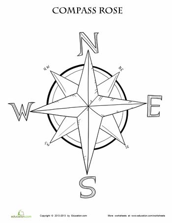 compass coloring pages - photo#9
