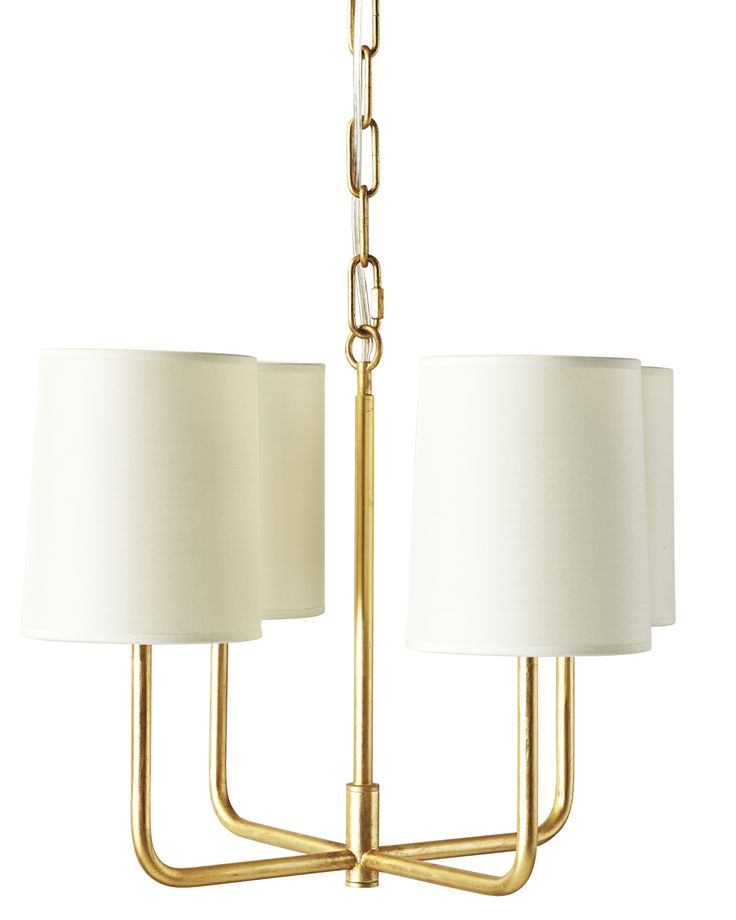 small brass chandelier - perfect size for smaller dining nooks!