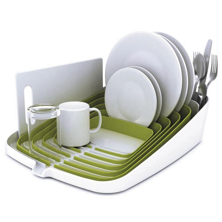 Bring design and functionality to your kitchen with this Arena Dish Drainer by Joseph Joseph. This drainer maximises space with its innovative design and can hold up to four place settings. Unlike oth
