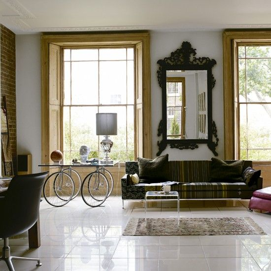 Eclectic living roomCoffe Tables, Tables Legs, Living Room Ideas, Livingroom, Modern Living Room, End Tables, Vintage Modern, Bicycles Wheels, Modern House