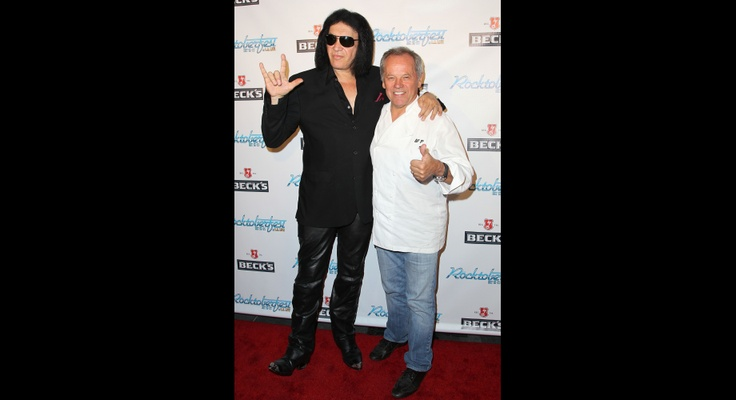 Gene Simmons And Wolfgang Puck | GRAMMY.comRöcktoberfest Kicks Off, Los Angels, Puck Host, Wolfgang Puck, Kicks Off Parties, Food Collider, Gene Simmons