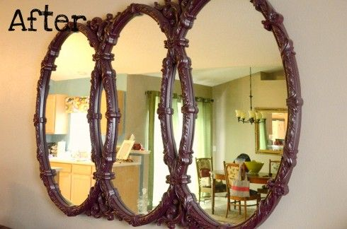 Mirror makeover. A little paint goes a long way.