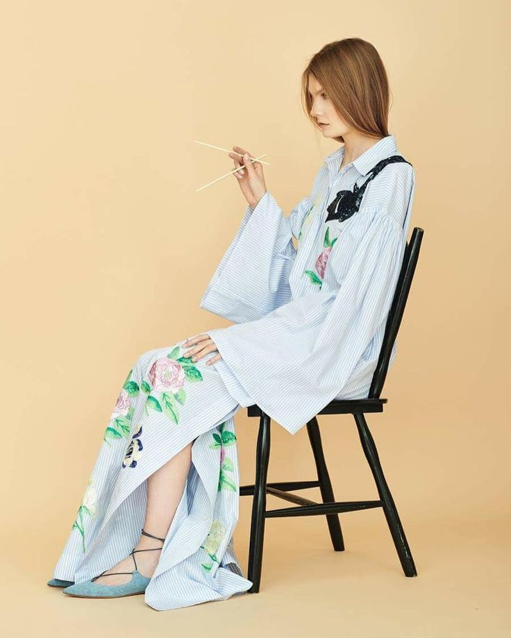 Relaxed Glamour – Blumarine Spring Summer 2016 • Striped cotton poplin mini…
