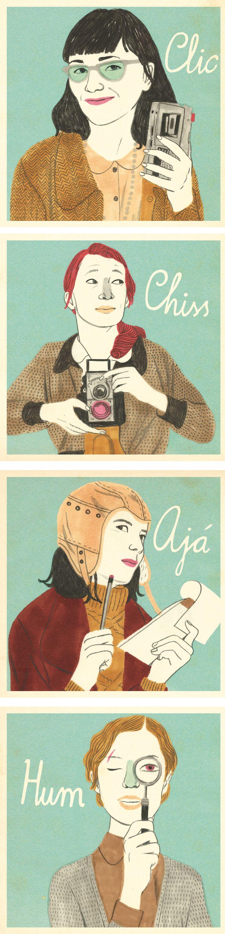portraits for the syldavian girls || Sonia Pulido
