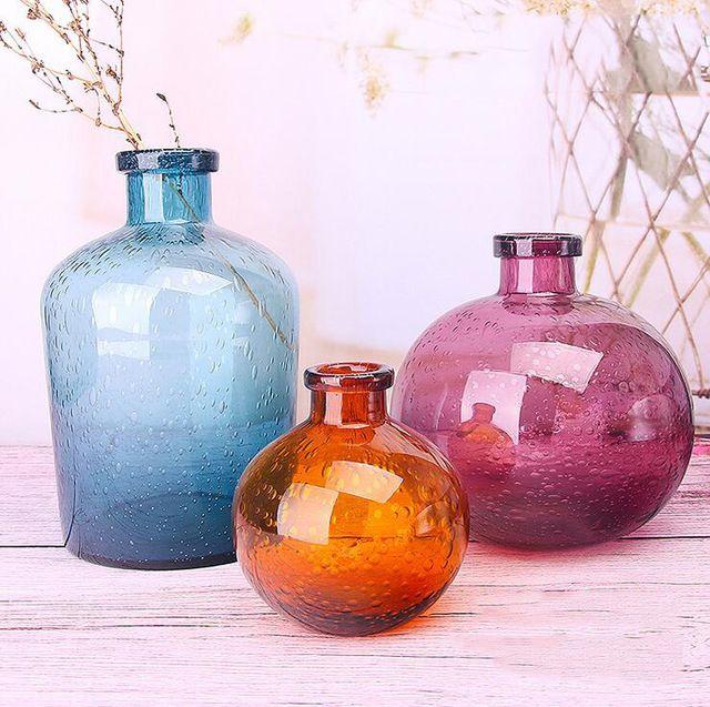 Kabarcık cam vazolar El-üflemeli çiçek vazolar yatak odası masa vazo Basit Ev Dekorasyon