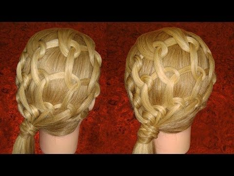 Peinado; Malla  de Espirales  / Hairstyle, Mesh Spirals / Прическа, спирали сетки