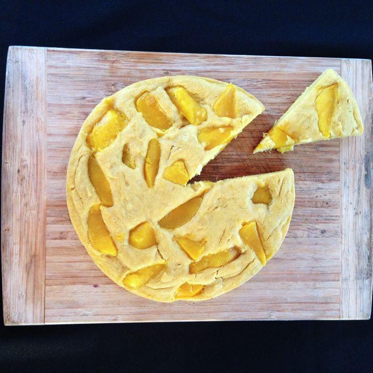 pastel de mango con harina de arroz