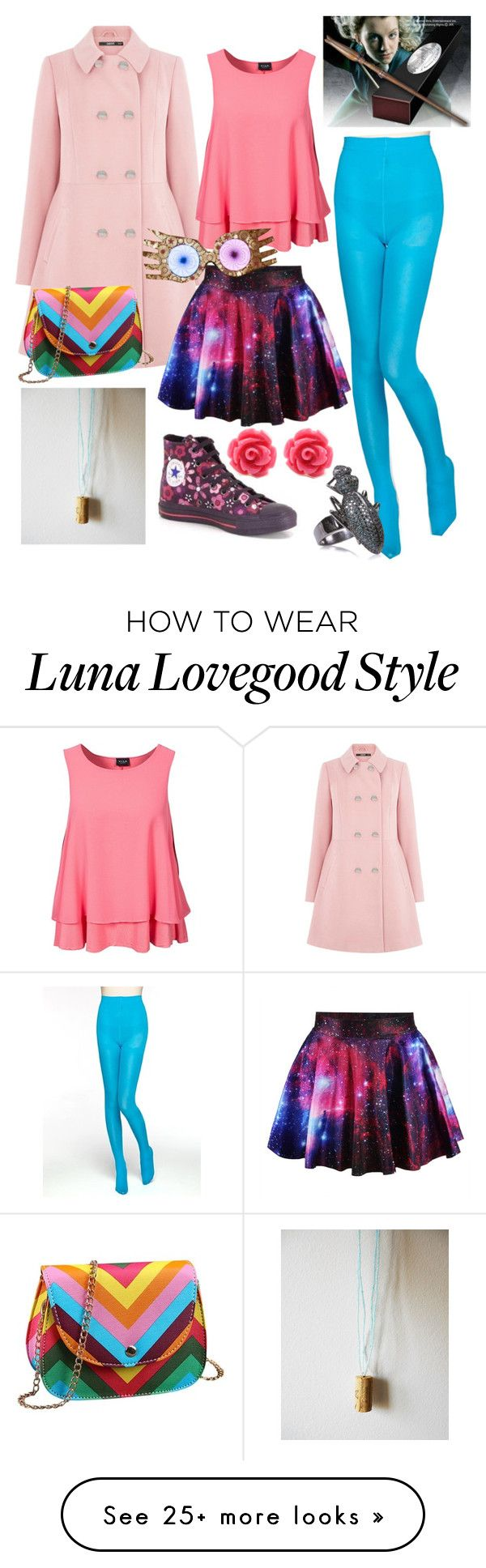 """""""Luna Lovegood"""" by number-3 on Polyvore featuring Oasis, VILA, Converse, Luna, Ileana Makri, women's clothing, women, female, woman and misses"""