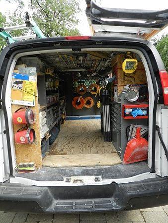 Organized Work Van Trades Pinterest Tools Storage
