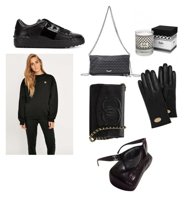 """Untitled #4"" by marinellamikkelsen on Polyvore featuring Valentino, Zadig & Voltaire, Fila, Lala Berlin, Mulberry and Chanel"