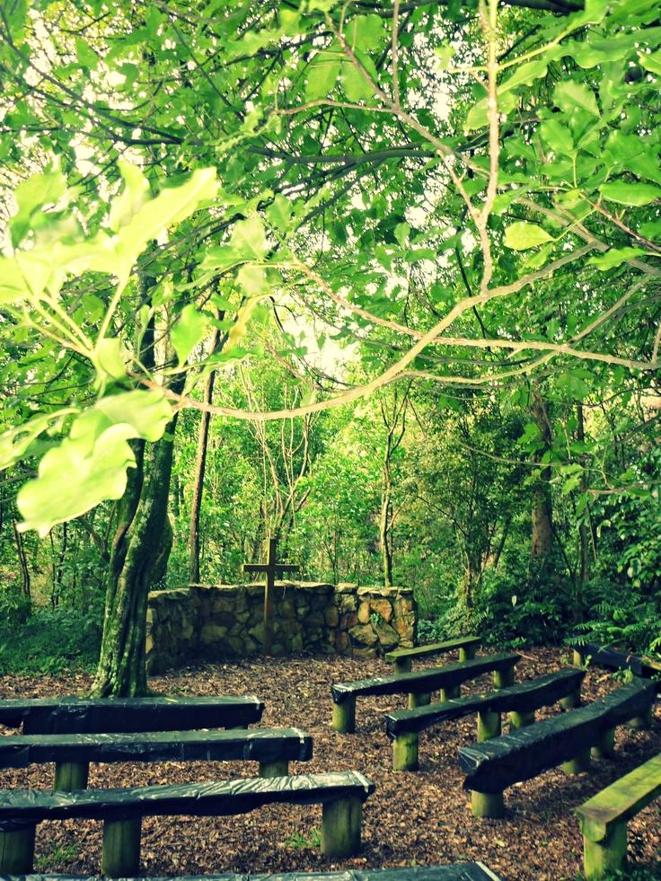 Beautiful outdoor chapel at Arahina, Marton.