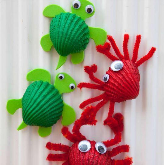 crabe et tortue avec coquillage
