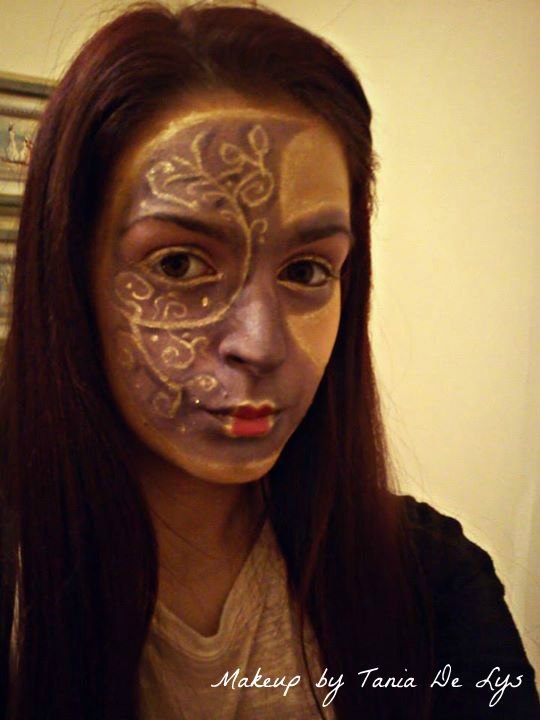 Venetian mask makeup!
