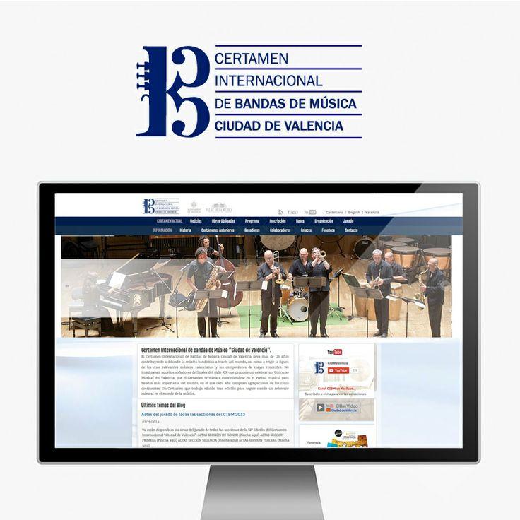Diseño Web Certamen de Música de Valencia  www.dissenart.com