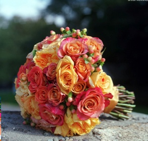 Coral and Yellow Bouquet