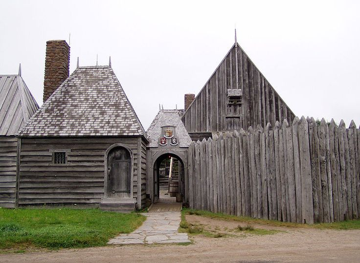 The Habitation Fort Royal in Nova Scotia (1605-1613) was a French settlement in New France in North America.  It is located on the north shore of Annapolis Basin.