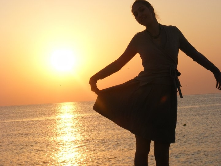 Happiness at sunrise in Vama Veche