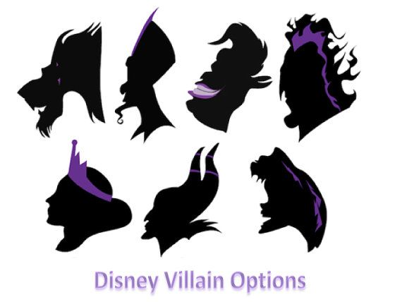 Disney Villain Silhouette Painting Choose From 7 By