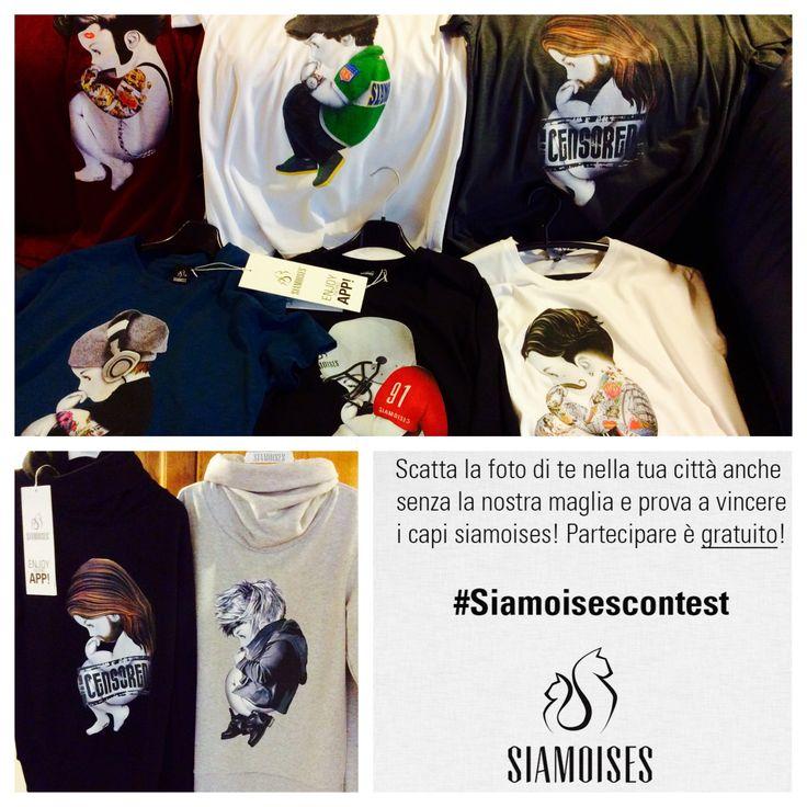 Ecco i premi del #siamoisescontest per i nostri uomini! tshirt e felpe a scelta..cosa aspettate!? http://bit.ly/siamoisescontest14 #siamoises