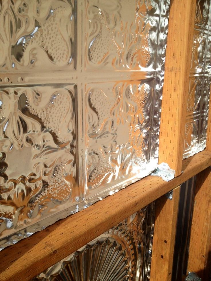 1000 Images About Fence Made With Tin Ceiling Tiles On
