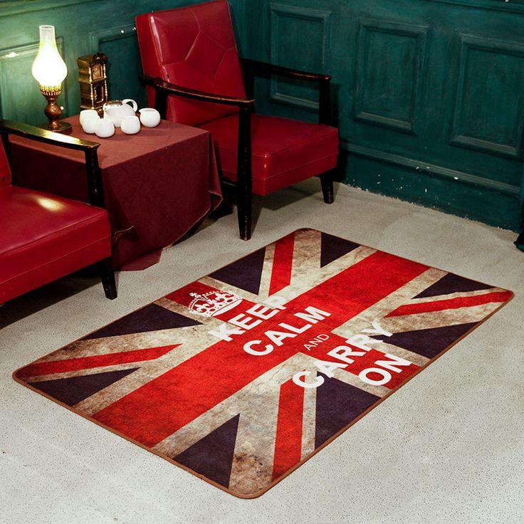 Британский стиль флаг звездообразный ключ ковёр журнальный столик диван коврики винтажный ретро отделки