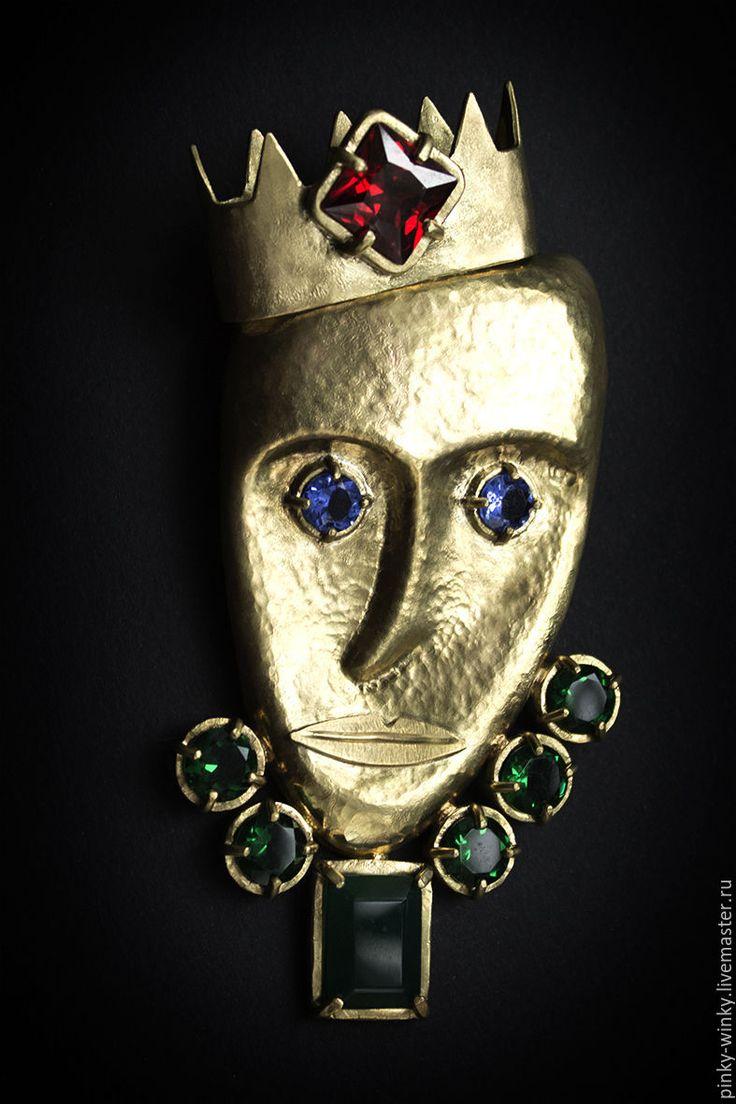 Купить Королевская Магия - король, корона, магия, авторские украшения, феониты, латунь, магия, феониты