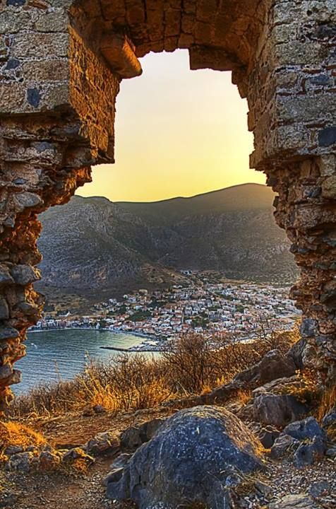 View from the castle of Monemvasia in Peloponnese