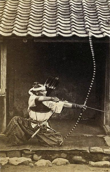 """"""" the-history-of-fighting: """" Japanese archer c.1850 """" """""""