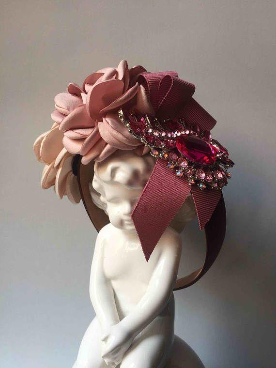 Cerchietto gioiello con fiori rosa