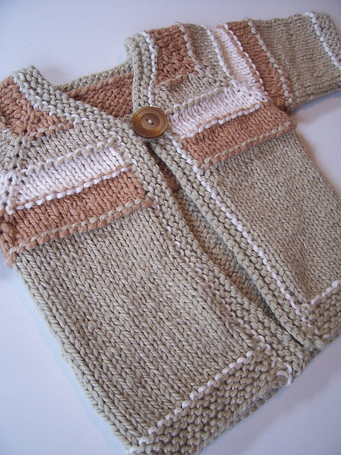 Love this top-down baby sweater.