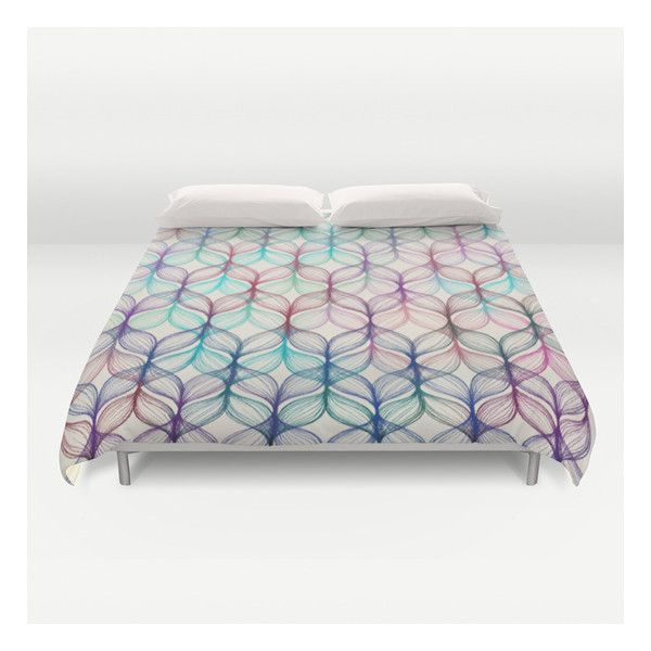 braids a colored pencil pattern duvet cover 129 liked on polyvore twin xl