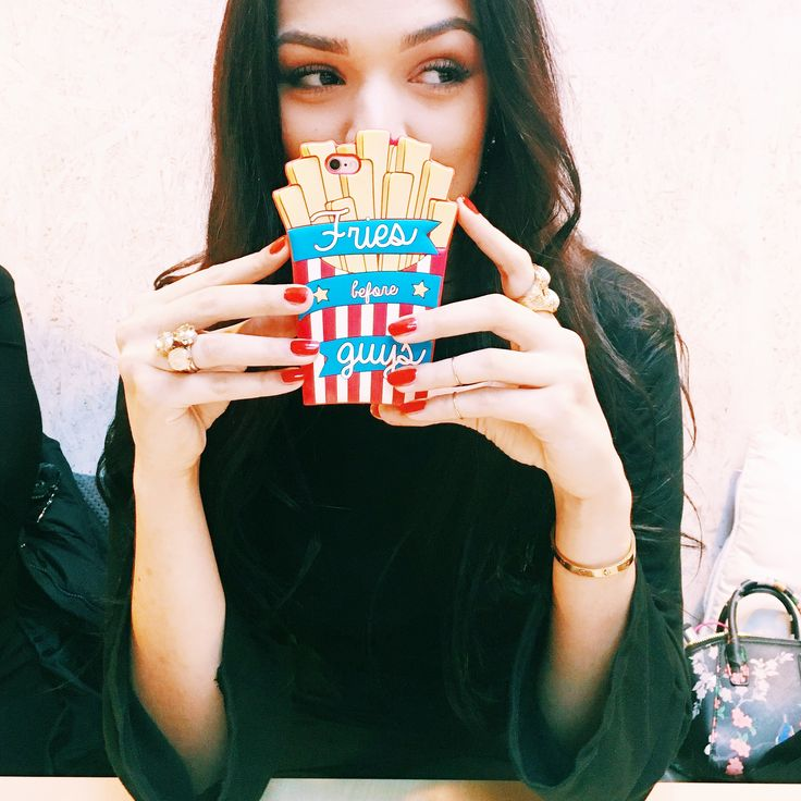 Fries before Guys, priorities ladies! Instagram: @yasminearabella - Yasmine Arabella