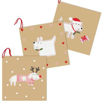 Christmas Gift Tags - Dogs (pack of 6)