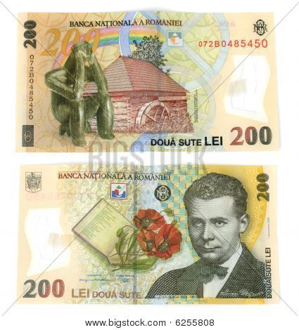 romania currency   200 Lei(romanian Currency) Isolated. Stock Photo & Stock Images ...