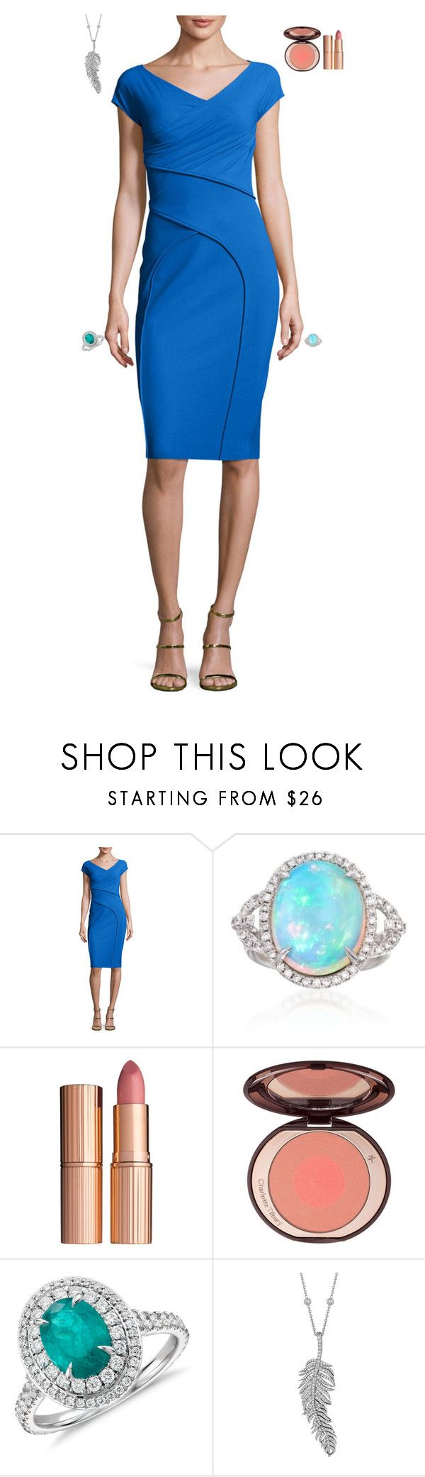 """""""Receive the friends for lunch"""" by stylev ❤ liked on Polyvore featuring La Petite Robe di Chiara Boni, Ross-Simons, Charlotte Tilbury, Blue Nile and Penny Preville"""