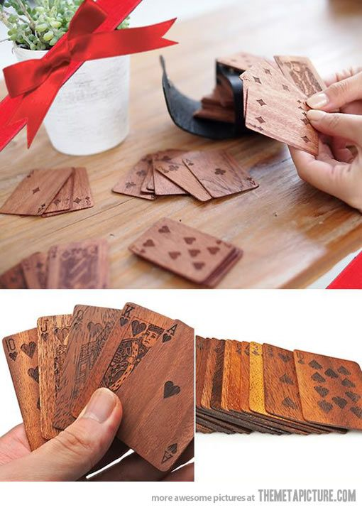 This isn't a link to the actual product- but I like the idea. Another version is at http://mollaspace.com/collections/personal-accessory/products/wood-deck-of-cards