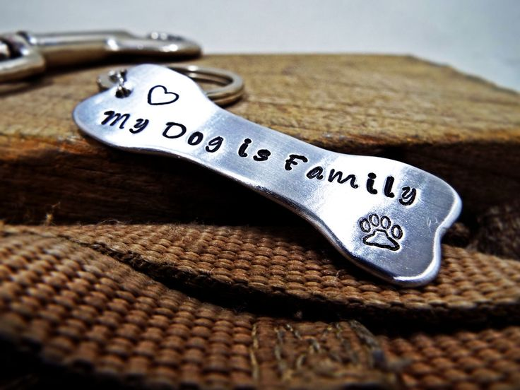 My Dog Is Family bone shape Statement Keychain - Dog Paw and heart Personalized dog name Aluminum keychain - Perfect gift for Dog lovers by Aluminiopassions on Etsy