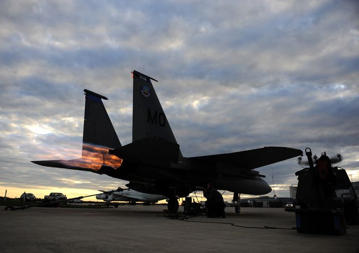 A F 15 Strike Eagle Assigned To The 390th Fighter Squadron Mountain Home Air Force Base Idaho Conducts A After Burner R Air Force Pictures Fighter Air Force
