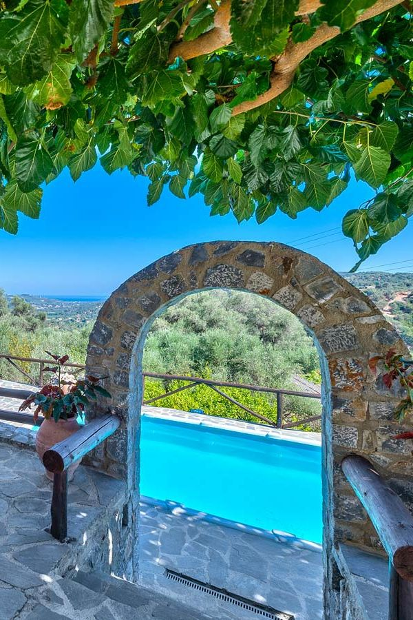 Stay in the traditional Villa Olive next to nature! #chania #crete #travel