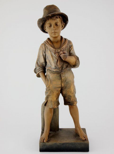 Goldscheider Country Boy Statue